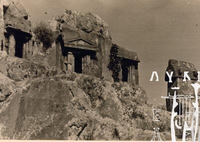 Καλλιόπη Μουσαίου, Αρχαίοι λαξευτοί τάφοι και σαρκοφάγοι της Μάκρης, 1952